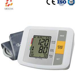 Home digital blood pressure monitor with sphygmomanometer cuff